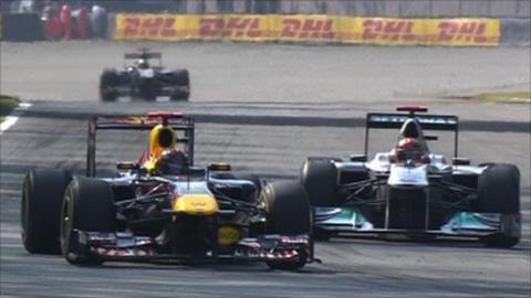 Vettel and Schumacher
