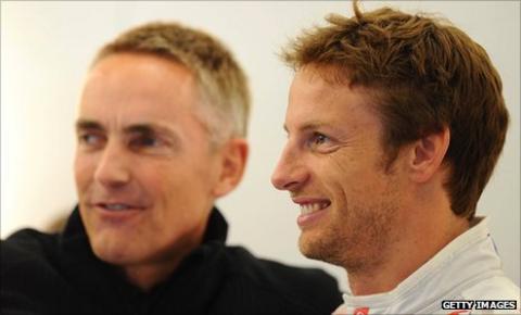 Martin Whitmarsh and Jenson Button