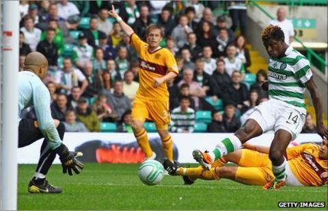 Celtic's Sierra Leonean striker Mo Bangura