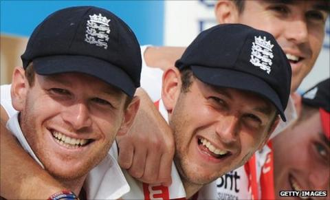 Eoin Morgan and Tim Bresnan
