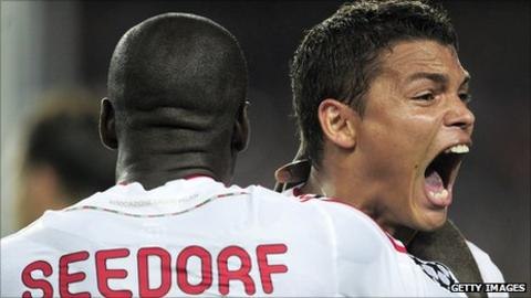 Clarence Seedorf and Thiago Silva
