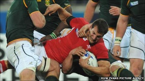 Wales captain Sam Warburton puts his body on the line against South Africa