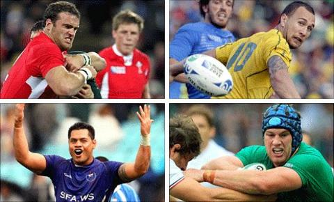 Key men (clockwise from top left): Wales centre Jamie Roberts, Australia fly-half Quade Cooper, Ireland flanker Sean O'Brien and Samoa number eight George Stowers