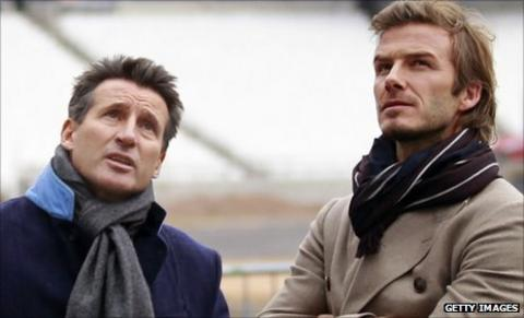 Seb Coe and David Beckham