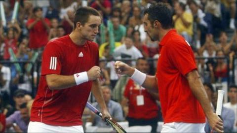 Serbia's Nenad Zimonjic and Viktor Troicki
