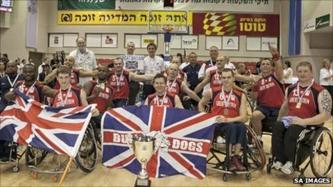 GB men's wheelchair basketball team. Pic: SA Images