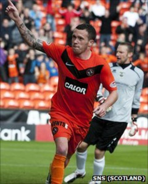 Dundee United midfielder Danny Swanson