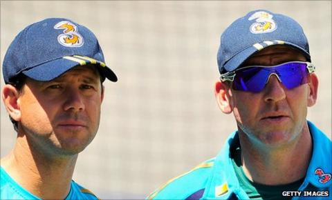 Ricky Ponting and Tim Nielsen