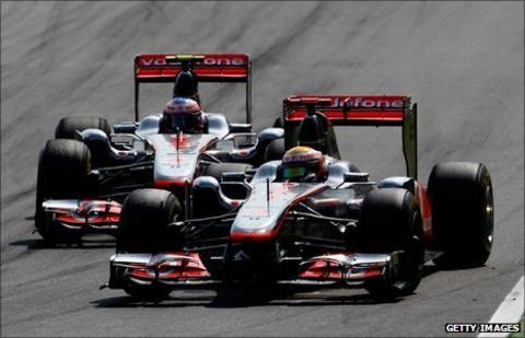 Lewis Hamilton and Jenson Button