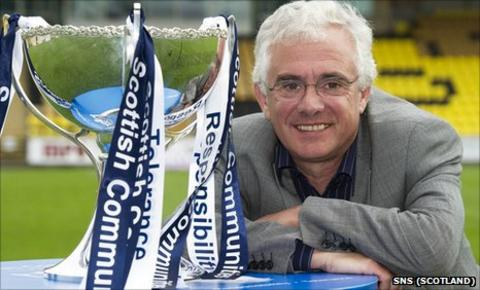Falkirk chairman Martin Ritchie and the Scottish Communities League Cup