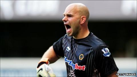Marcus Hahnemann playing for Wolves