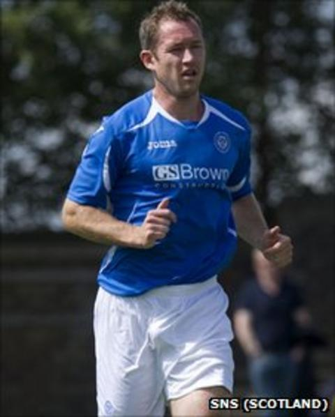 St Johnstone defender Frazer Wright