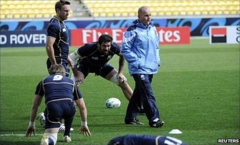 Andy Robinson takes Scotland training