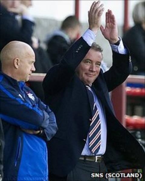Rangers assistant manager Kenny McDowell and manager Ally McCoist