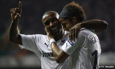 Jermain Defoe and Giovanni dos Santos