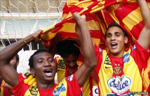 Esperance team-mates Harrison Afful (left) and Ben Hammouda