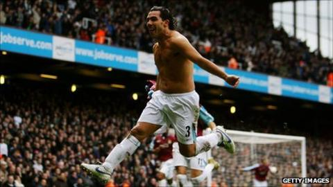 Carlos Tevez at West Ham in 2004