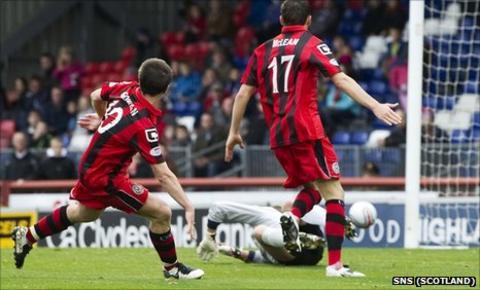 St Mirren's Paul McGowan had a late effort ruled offside