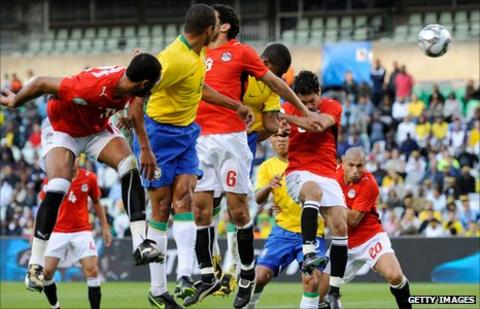 Egypt played Brazil in 2009