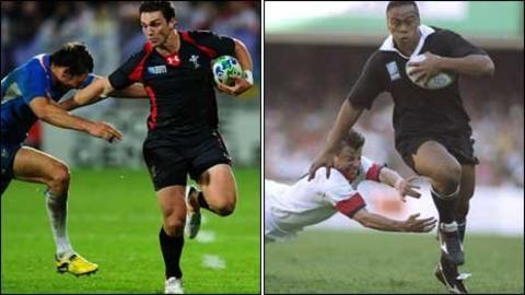 George North and Jonah Lomu