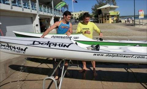 Mark Webber getting ready to hit the open water