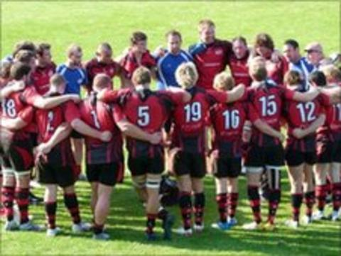 Jersey Rugby Club huddle