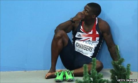 Dwain Chambers after disqualification at the World Championships in Daegu