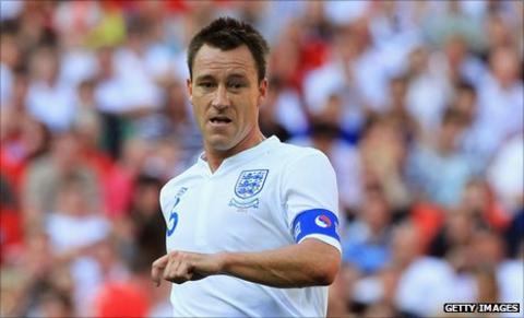 England captain John Terry prepares for the final Euro 2012 qualifier