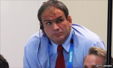 Martin Johnson watches on as England crash out of the World Cup