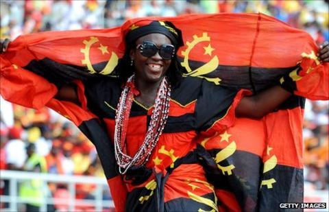 An Angola fan