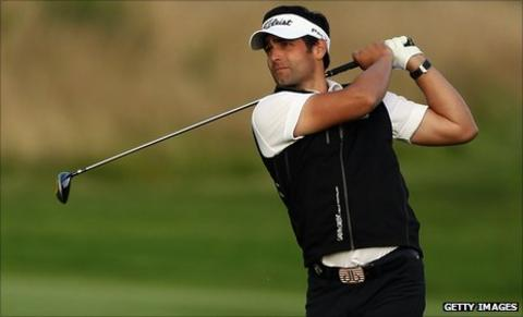 Lee Slattery currently leads the Madrid Masters by two shots