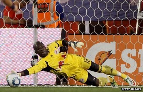 Senegal goalkeeper Bouna Coundoul playing for New York Red Bulls