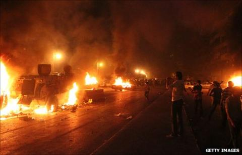Violence in Cairo on 9 October 2011
