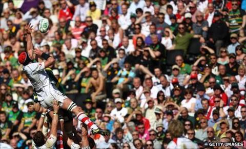 Saints against Ulster at Stadium MK
