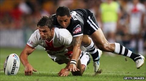 Jon Wilkin (left) and Benji Marshall
