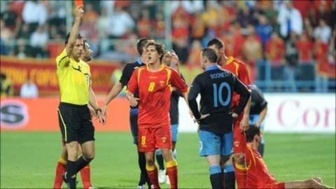 Wayne Rooney is sent off in England's Euro 2012 qualifier against Montenegro