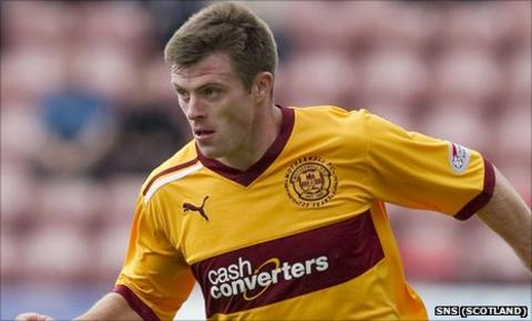 Motherwell midfielder Steve Jennings