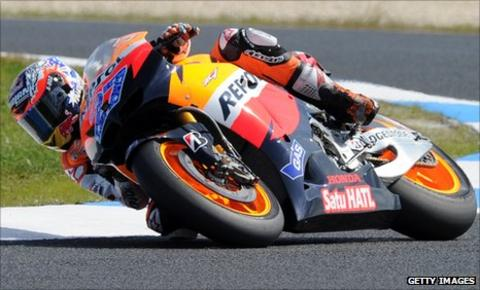 Casey Stoner has won at Phillip Island for the last four years for Ducati