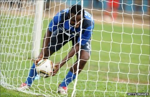 Enyimba striker Victor Barnabas