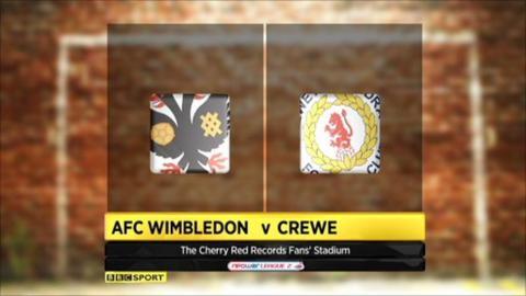 AFC Wimbledon 1-3 Crewe