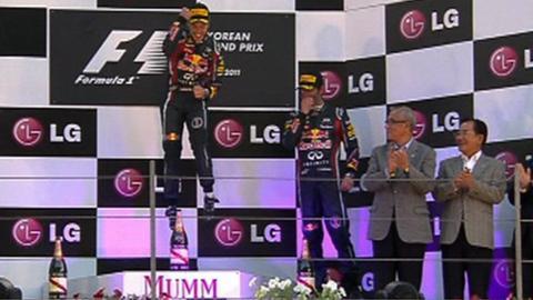 Red Bull's Sebastian Vettel & Mark Webber
