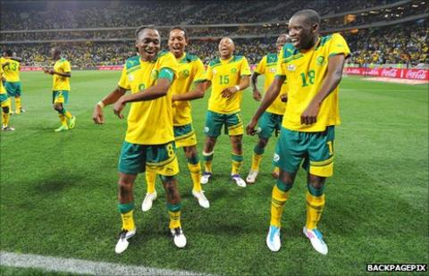 South Africa players
