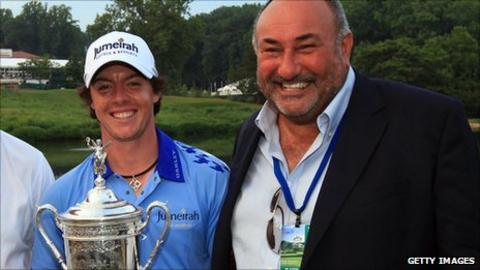 Rory McIlroy and Andrew 'Chubby' Chandler