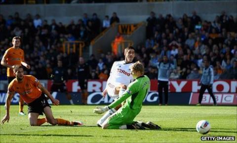 Danny Graham slots Swansea ahead
