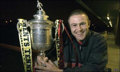 Keith McLeod with the Scottish Cup