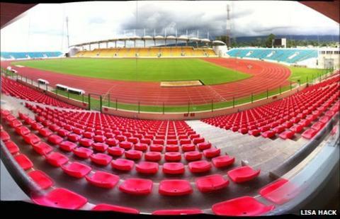 The Malabo Stadium in Equatorial Guinea