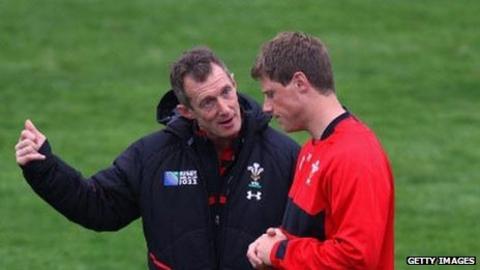 Rob Howley and Rhys Priestland