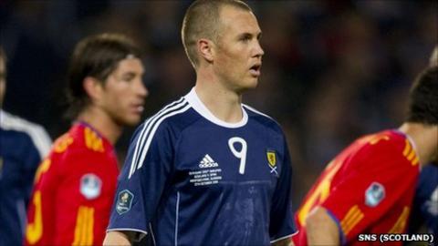 Scotland striker Kenny Miller