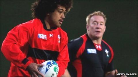 Toby Faletau and Lloyd Burns