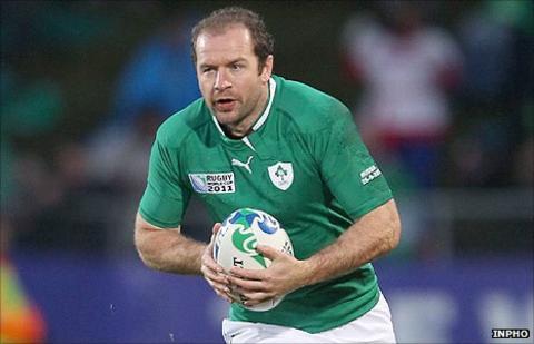 Ireland full-back Geordan Murphy